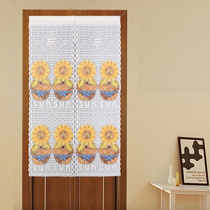 +台灣製造針織門簾【向日葵】90 x150cm 居家設計款+