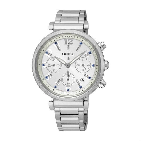 SeikoLukiaV175-0DY0S(SSC847J1)時尚太陽能計時腕錶白面36mm