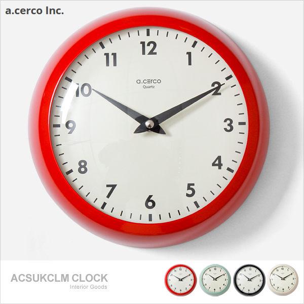 E&J【B19017】a.cerco ACSUKCLM Clock 小鐵凸玻璃 掛鐘 四色可選; 時鐘/鬧鐘/loft風/簡約/質感/無印