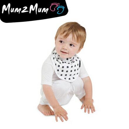 Mum 2 Mum 雙面竹纖維棉機能口水巾圍兜-水彩方塊/星星【悅兒園婦幼用品館】