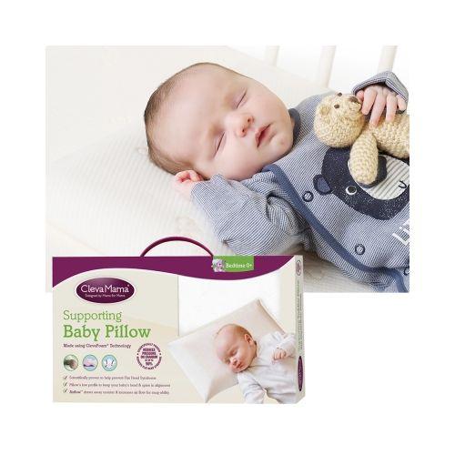 ClevaMama Cleva Foam 護頭型嬰兒枕/防扁頭嬰兒枕(含膚色枕套)★衛立兒生活館★