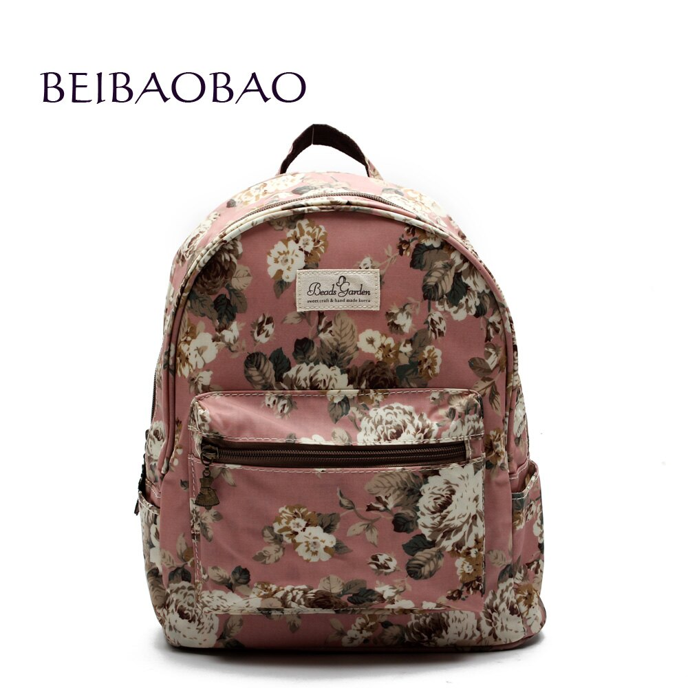 【BEIBAOBAO】粉色花漾親子包( 大包) - 限時優惠好康折扣
