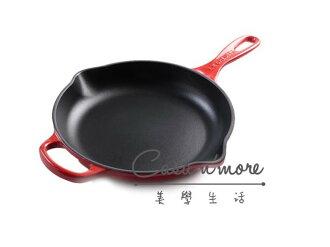 Le Creuset 平底煎鍋 20cm 鑄鐵平底鍋(紅) 平煎鍋 法國製