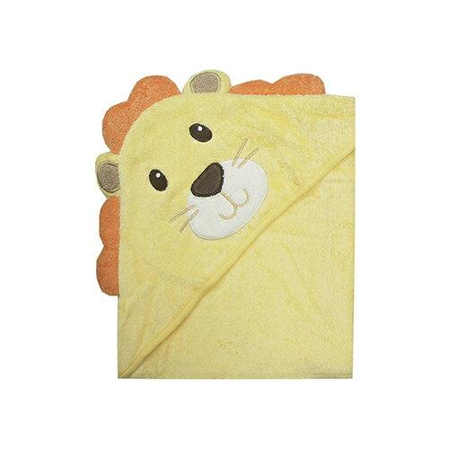 【HELLA 媽咪寶貝】美國 luvable friends 嬰幼兒動物造型連帽浴巾 奶油獅(05223)