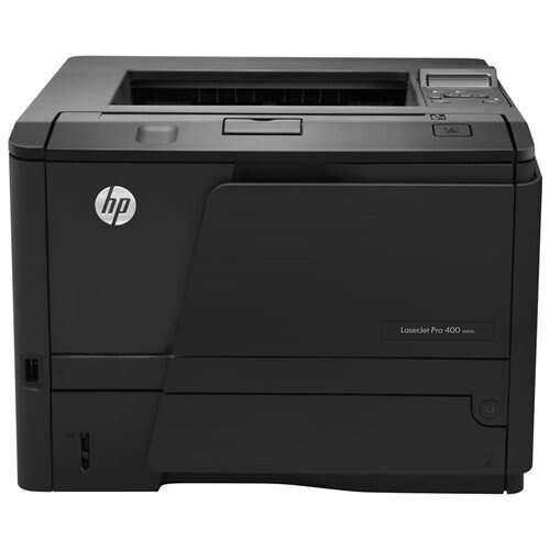 HP LaserJet Pro 400 M401N Laser Printer - Monochrome - 1200 x 1200 dpi Print - Plain Paper Print - Desktop - 35 ppm Mono Print - 300 sheets Standard Input Capacity - 50000 Duty Cycle - Manual Duplex Print - LCD - Ethernet - USB 0