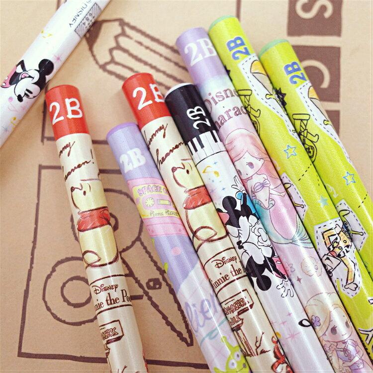 PGS7 日本迪士尼系列商品 - 迪士尼 可愛 風格 2B 鉛筆 米奇 米妮 三眼怪 公主【SHJ7976】
