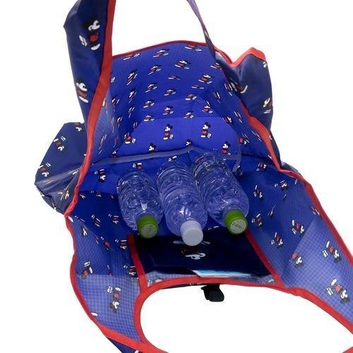 米奇 環保袋 環保 購物袋 收納袋 手提袋 藍色 紅邊 方便 攜帶 迪士尼 日貨 正版 授權 J00030223