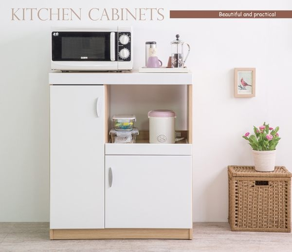 收納/廚櫃/收納櫃/整理櫃 TZUMii雅典娜雙門五格收納廚房櫃-亮麗白