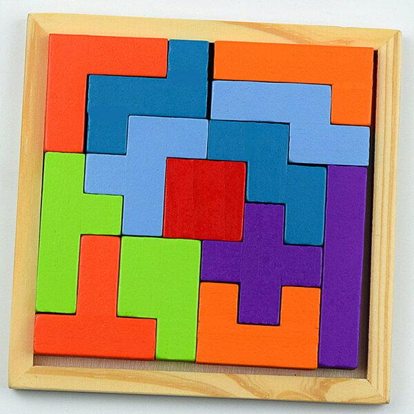 【省錢博士】十三塊早教拼圖開發智力天然木製玩具