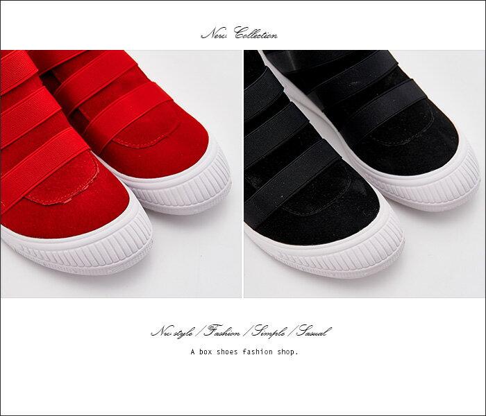 格子舖*【KF702】韓國製造 街頭中性休閒風 單色素面質感高品質真皮 高筒休閒鞋 2色 2