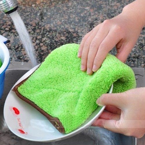 PS Mall 雙面清潔不沾油洗碗巾 不掉毛抹布【J755】