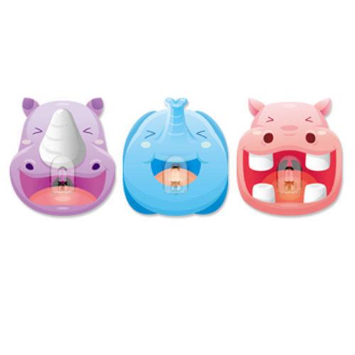 2EASY造型單掛鉤組 3入/組-大笑動物