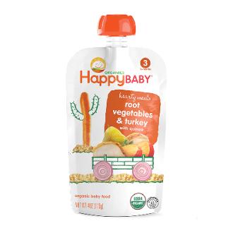 【HappyFamily】6入 佑爾康金貝親有機嬰兒副食品S3(火雞肉燉) 113g x 6