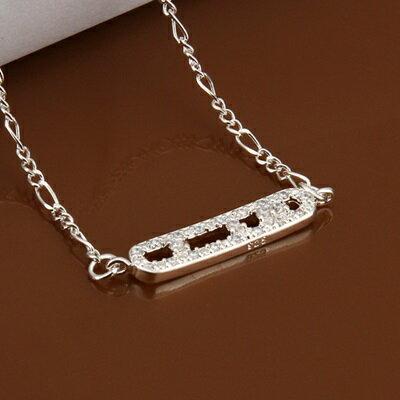 925純銀腳鍊鑲鑽銀飾~ 簡單 情人節生日 女飾品73ci25~ ~~米蘭 ~