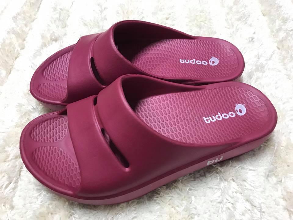 【Jolove】MIT台灣製牛頭牌/土豆星球套腳拖鞋/柔軟Q彈/服貼好支撐212229 紫紅