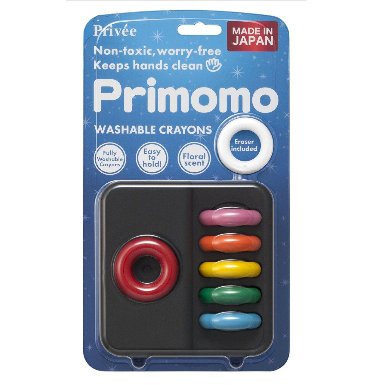 日本 Primomo 6色 戒指無毒蠟筆