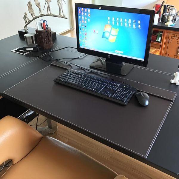 皮革書桌墊/大班商務台墊寫字台墊 滑鼠墊辦公桌墊板操作台墊訂製