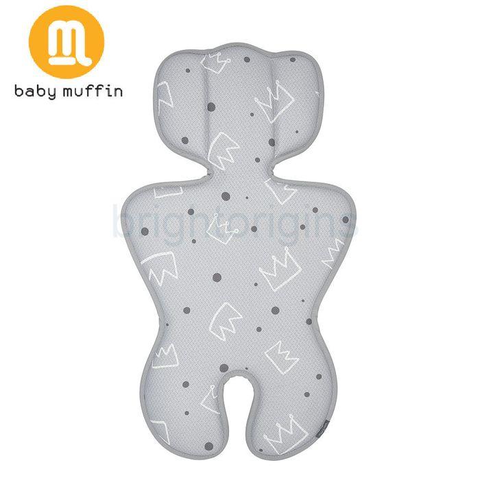 baby muffin 推車汽座兩用3D透氣墊/ 涼墊(皇家銀冠)★ 衛立兒生活館★