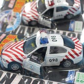 國道警車 聲光迴力警察車NO.110 合金警車(紅白)/一個入{促220}~生ST9662/9663