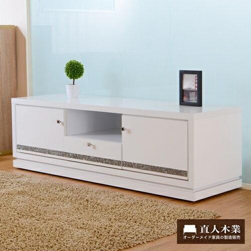 【日本直人木業】CARO白色美學120公分電視櫃