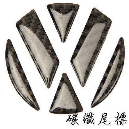 VW LOGO 後行李箱貼紙 碳纖立體水晶標誌 polo golf tiguan Beetle passat A0330