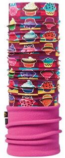 【【蘋果戶外】】BF108155西班牙BUFFPolartec杯子蛋糕冬季兩段式保暖系列吸濕排汗魔術頭巾Junior孩童女性