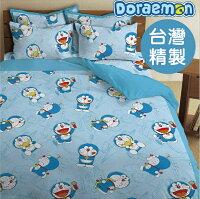 小叮噹週邊商品推薦*華閣床墊寢具*《哆啦A夢-我的法寶》床包組【床包+枕套】不含被套 正版授權 台灣製