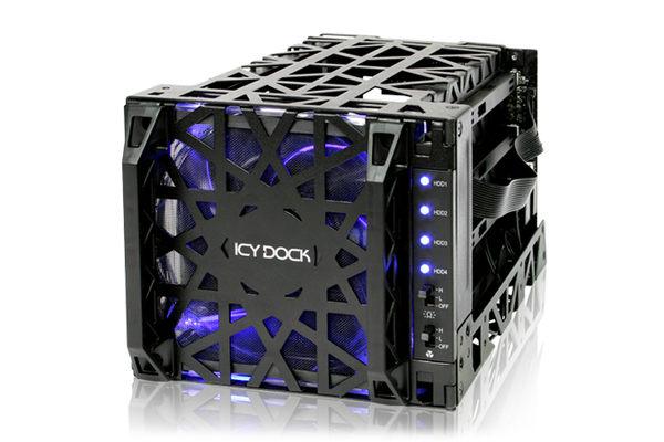 """[良基電腦] ICY DOCK Black Vortex MB074SP-1B 3.5"""" SATA硬碟 四轉三 熱插拔酷冷硬碟抽取盒 [天天3C]"""