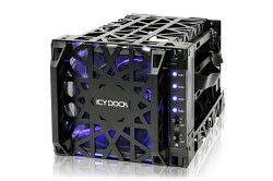 """[富廉網] ICY DOCK Black Vortex MB074SP-1B 3.5"""" SATA硬碟 四轉三 熱插拔酷冷硬碟抽取盒"""