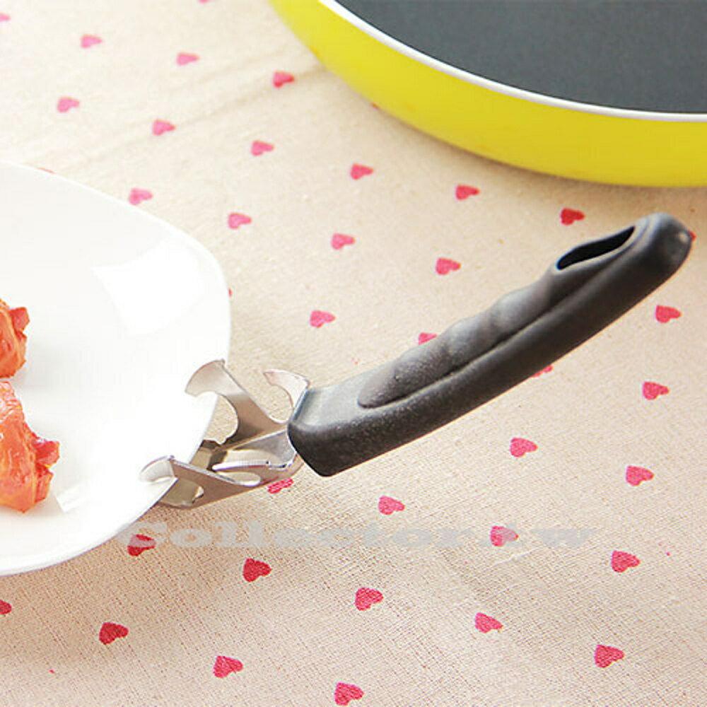 ✤宜家✤輕便型不銹鋼多功能碟碗夾 微波爐防燙夾碗器 耐高溫電鍋提盤夾