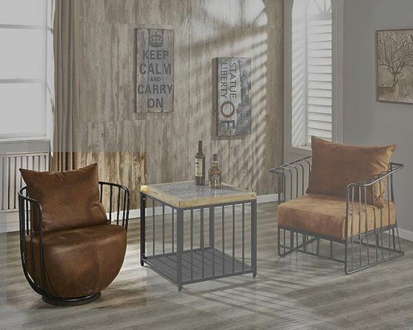 尚品傢俱:【尚品傢俱】JF-186-1文樂咖啡仿舊布鐵藝單椅