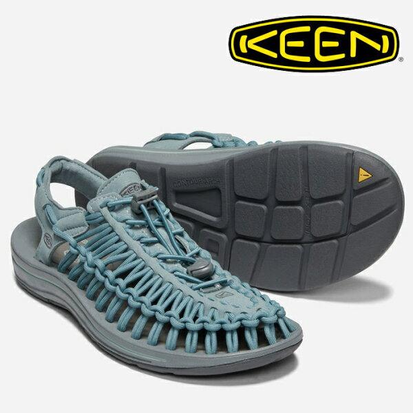 【Keen美國】UNEEK編織涼鞋運動涼鞋休閒涼鞋灰藍色女款(1019938)