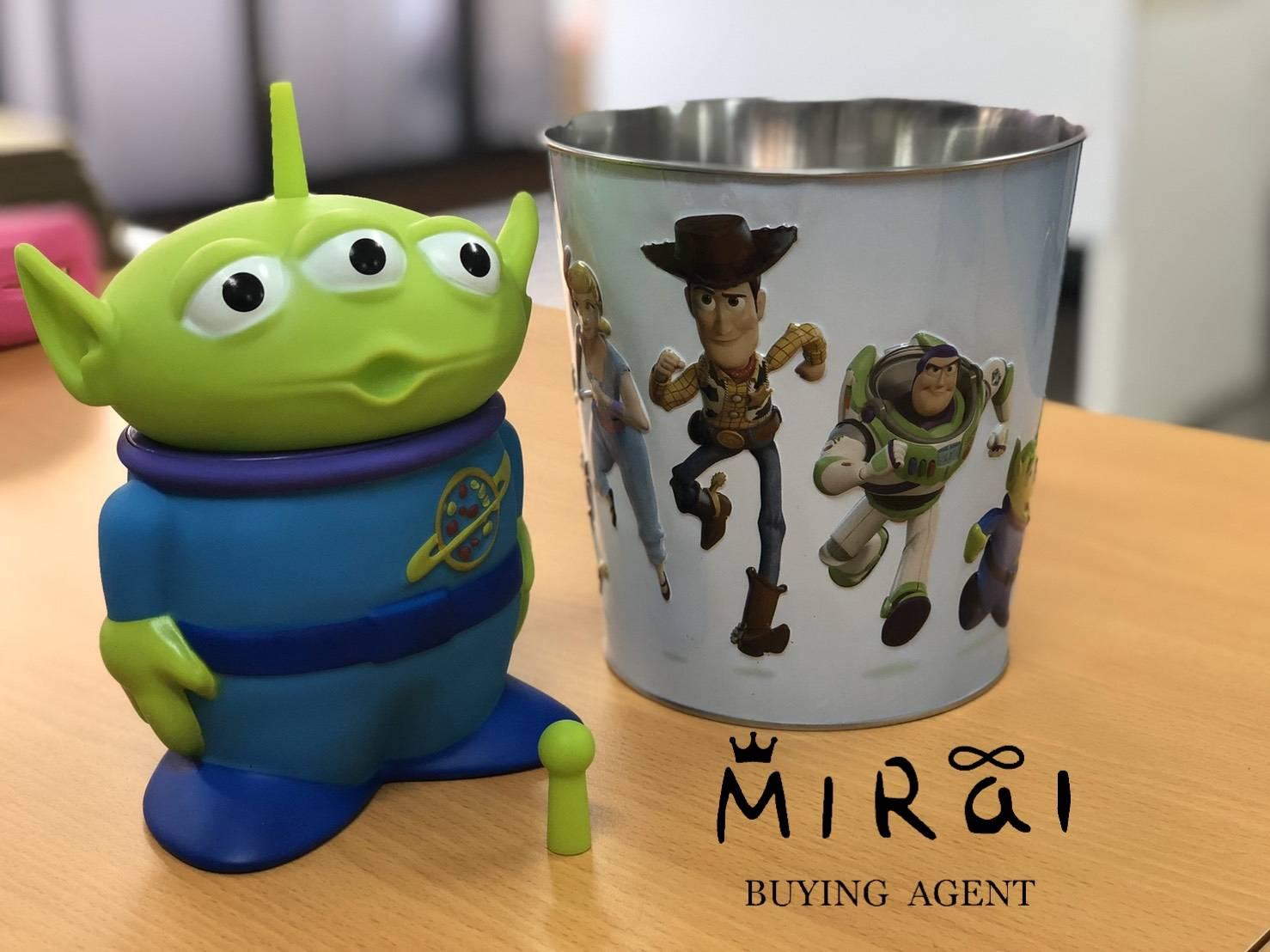 《現貨》泰國-風靡泰國電影院商品之玩具總動員 三眼怪飲料罐+玩總爆米花鐵桶