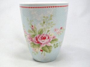 【預購】GreenGate  拿鐵杯   藍底玫瑰花 - 限時優惠好康折扣