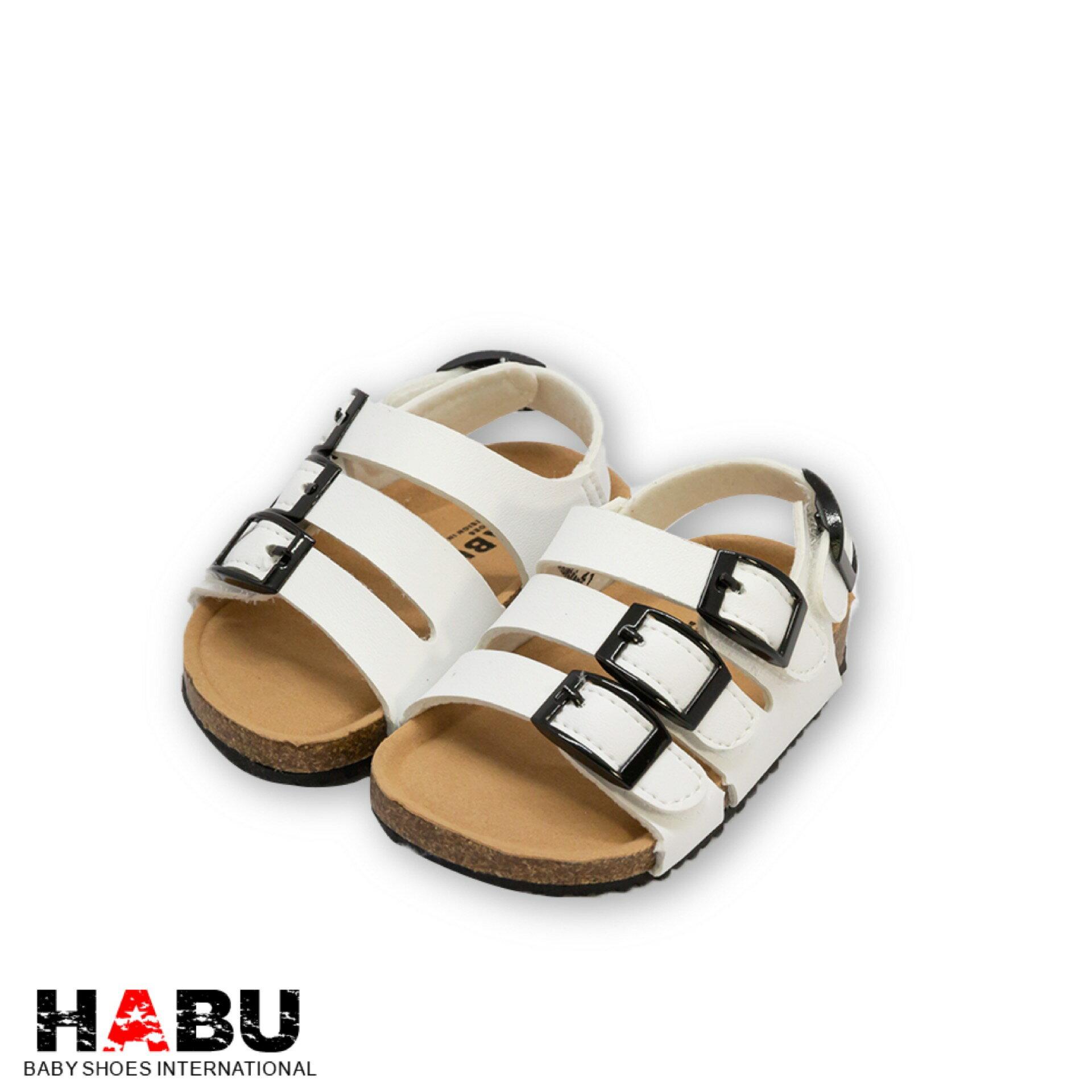HABU哈布童鞋 白色經典勃肯涼鞋RR134-WH 0