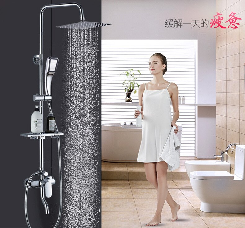 家用全銅淋浴花灑套裝沐浴增壓恒溫淋浴器浴室水龍頭淋雨沐浴噴頭【艾莎嚴選】