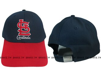 Shoestw【5432006-580】MLB 棒球帽 調整帽 老帽 紅雀隊 深藍紅 凸繡
