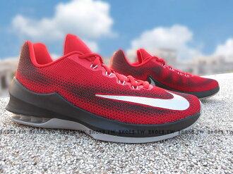 Shoestw【866071-600】NIKE AIR MAX INFURIATE LOW 籃球鞋 紅黑 低筒 KD