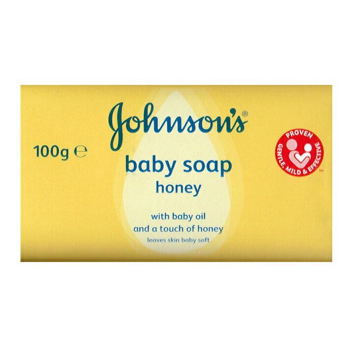 短效特價【嬌生】Johnson嬰兒 蜂蜜香皂(黃色)100g 1組4塊