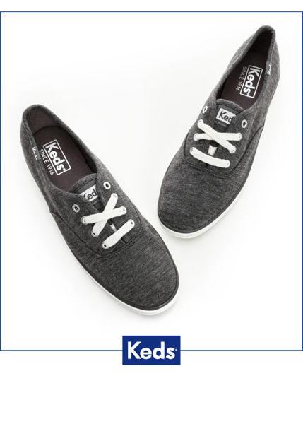 Keds 復古運動綁帶休閒鞋-深灰(限量) 套入式│懶人鞋│平底鞋│綁帶 2