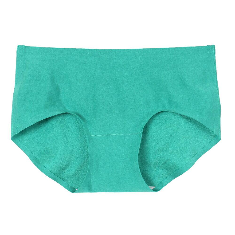 【Emon】親膚 零著感無痕三角褲(藍綠) 0