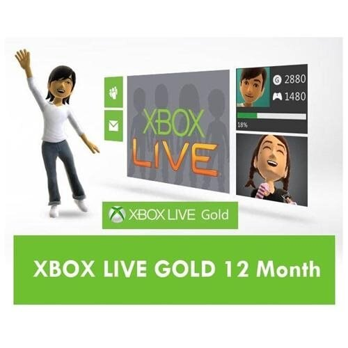 Xbox Live 12 Month Gold Membership (U.S Version) 1