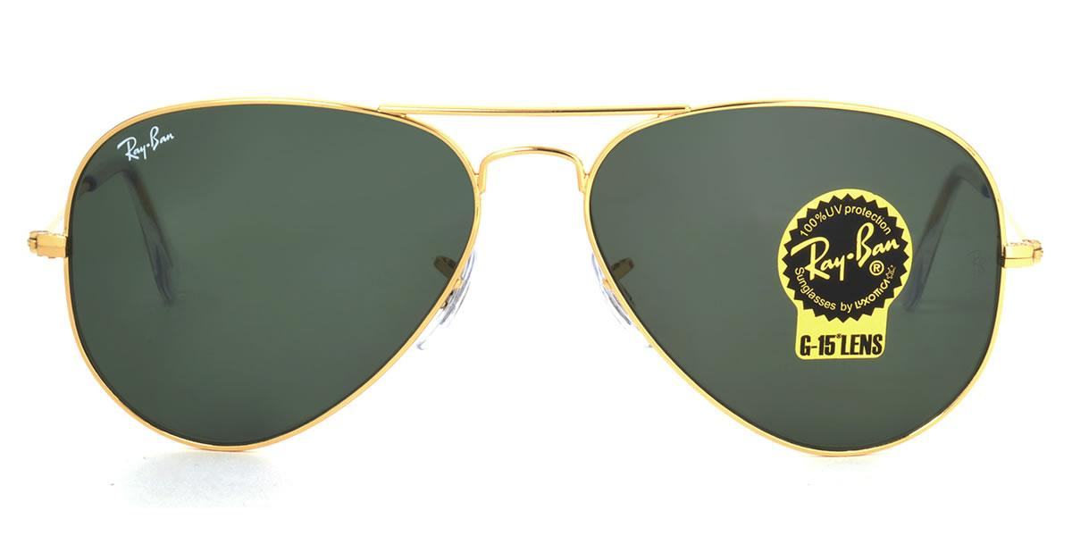 Outlet 美國100% 正品代購 經典 Ray Ban 雷朋 復古 墨鏡 太陽眼鏡 RB3025 金邊墨綠鏡