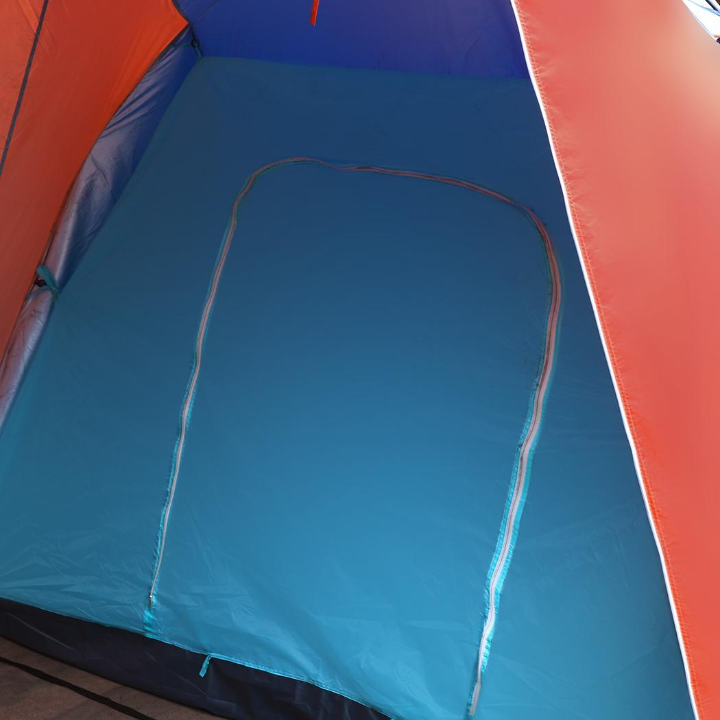 Waterproof Splicing Color 2 Room Outdoor Family Tent 4