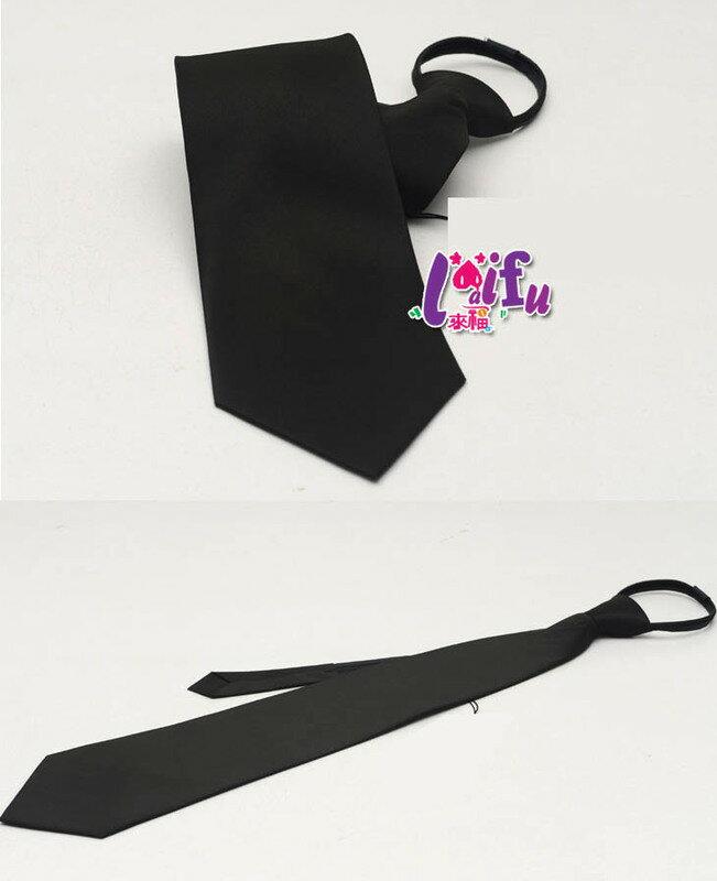 ★草魚妹★K154布面寬10cm拉鍊領帶寬版領帶免打領帶學生領帶 ,售價170元