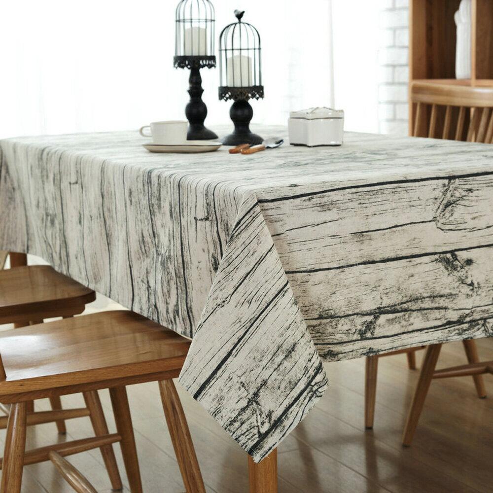復古木紋 桌巾-140x180cm 1