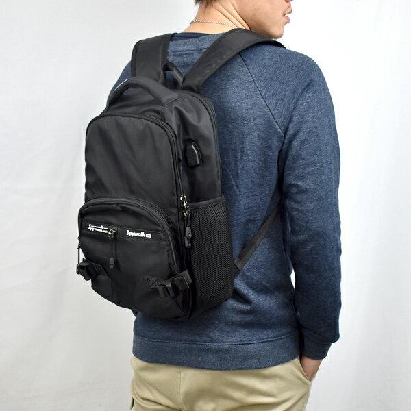 後背包 休閒實用USB電腦包【NZB37】