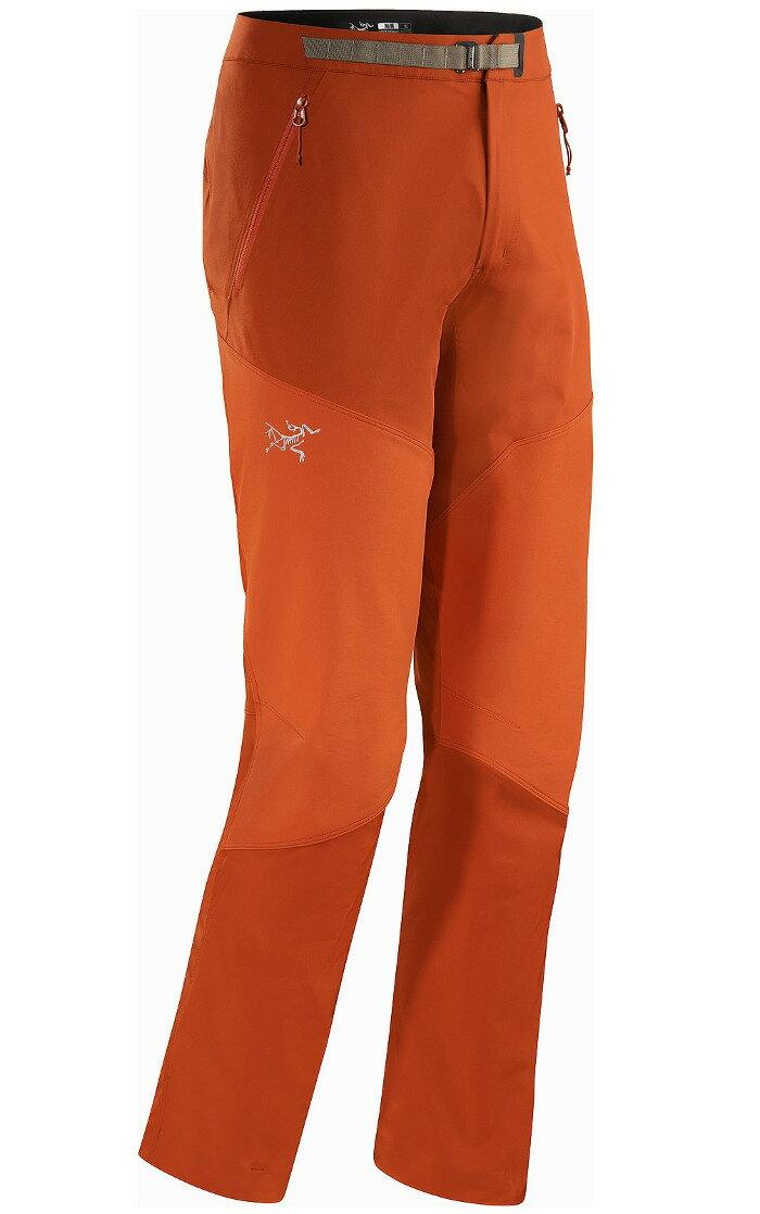 Arcteryx 始祖鳥 Gamma Rock 攀岩褲/登山褲/輕量透氣彈性軟殼褲 12157 鐵紅 男款 Arc\