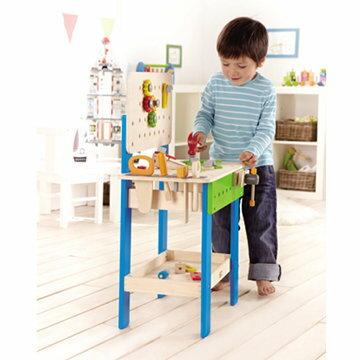 【淘氣寶寶】德國 Hape 愛傑卡 大型工作台【天然實木、植物性水染漆、德國環保玩具】