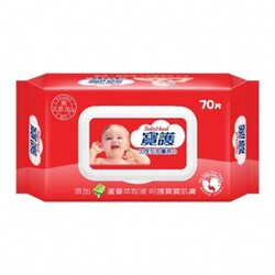 BABYHOOD寶護加厚型潔膚濕巾70抽 濕紙巾 加厚型(掀蓋) 加厚濕紙巾【生活ODOKE】
